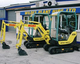 Yanmar Mini Excavators for hire